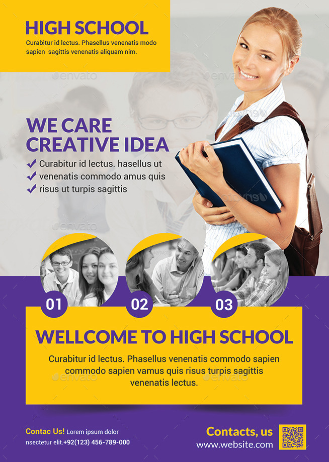 High School Flyer by afjamaal | GraphicRiver