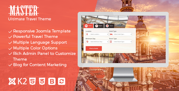 Master – Ultimate Travel Theme for Joomla