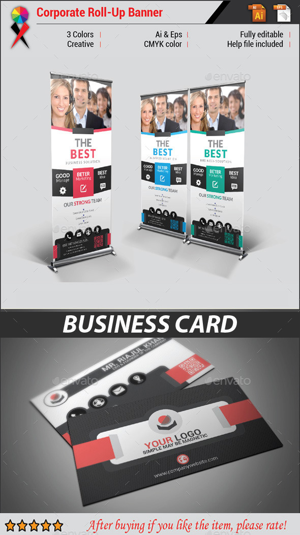 Roll Up Banner - Signage Print Templates