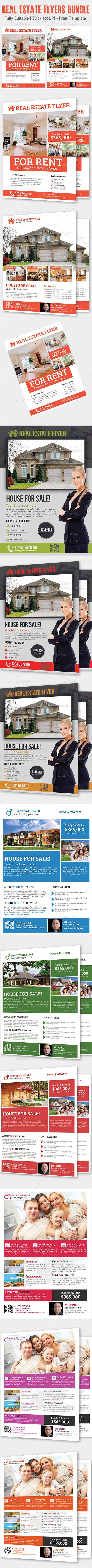 Real Estate Flyers Bundle - Flyers Print Templates
