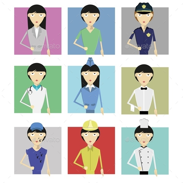 Female Profession - People Characters