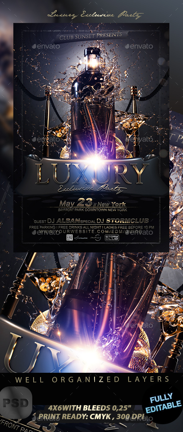 Luxury Exclusive Party - Events Flyers