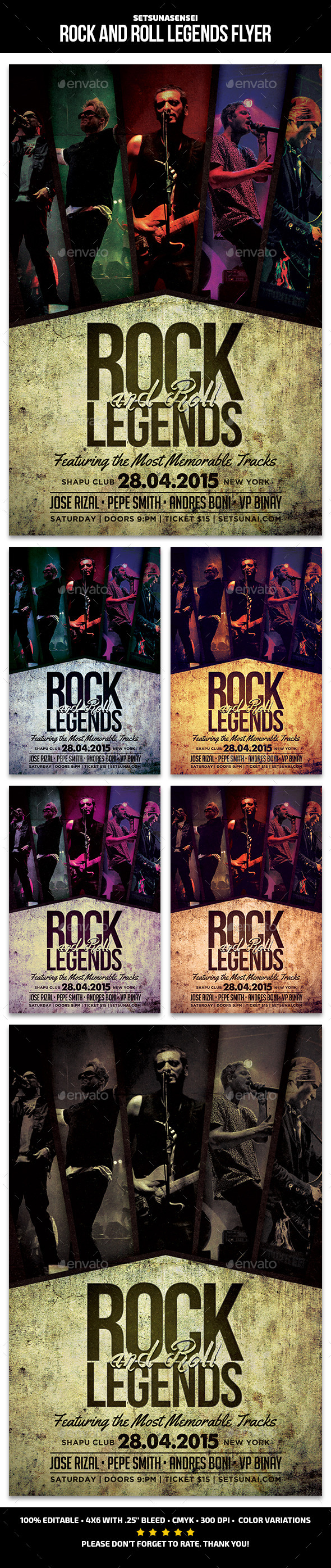 Rock and Roll Legends Flyer - Concerts Events