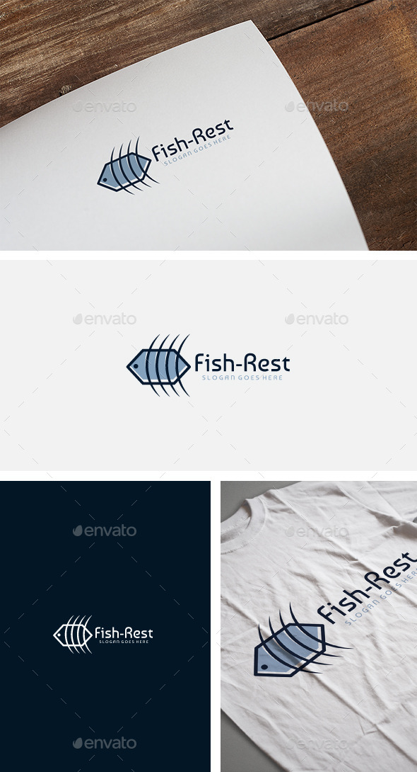 Fish Restaurant Logo - Food Logo Templates