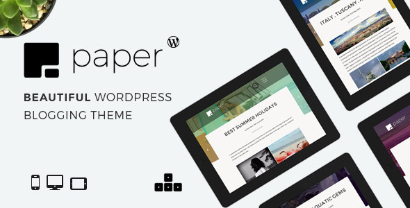 Paper – Beautiful WordPress Blogging Theme