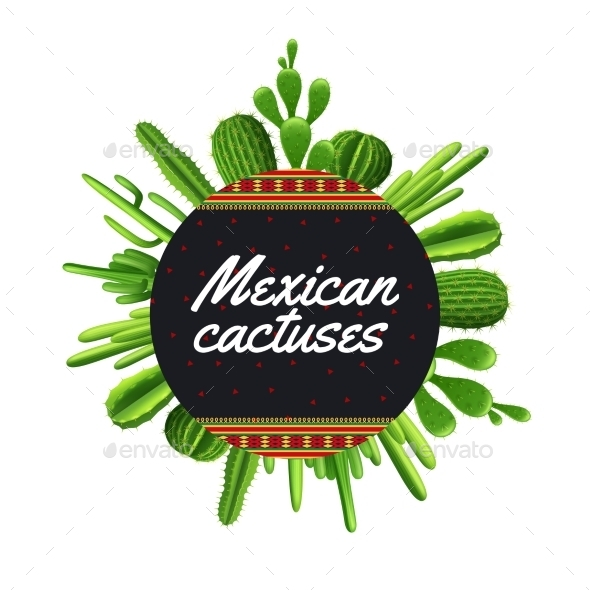 Mexican Cactus Illustration - Flowers & Plants Nature