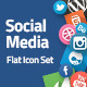 Contact & Social Media Flat Icons - GraphicRiver Item for Sale