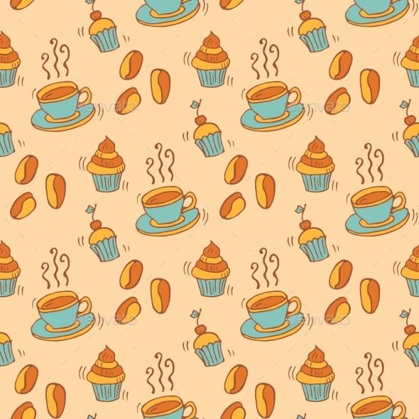 Pattern With Cupcakes - Birthdays Seasons/Holidays
