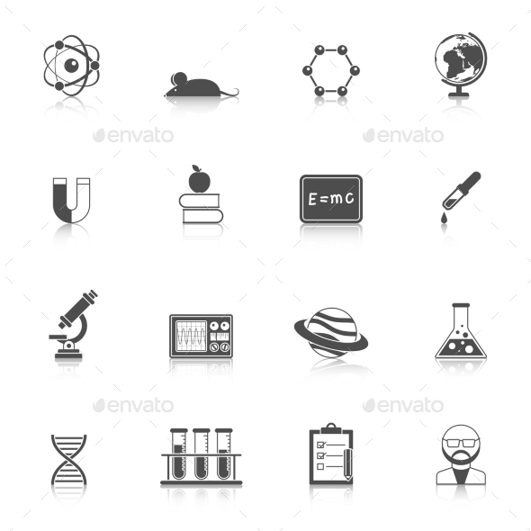 Science And Scholarship Icon Set  - Technology Icons