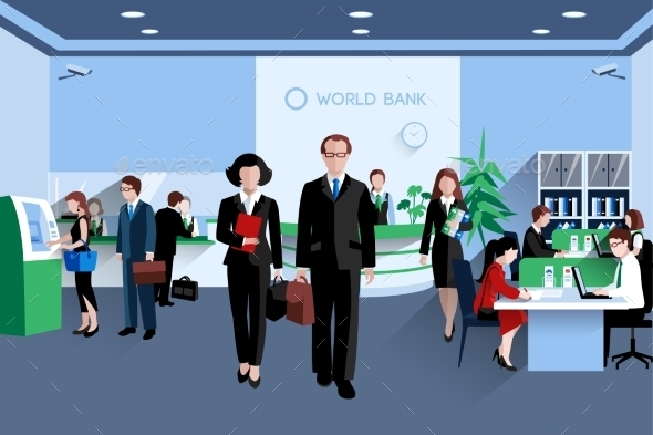 People In Bank - People Characters