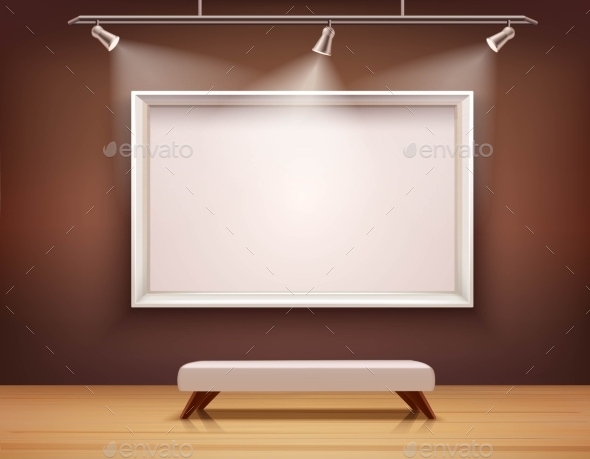 Gallery Interior Illustration - Objects Vectors