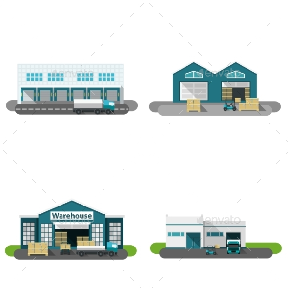 Warehouse Building Flat - Buildings Objects
