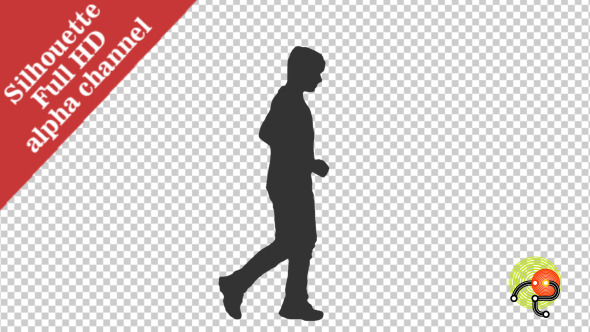 Silhouette of a Running Boy