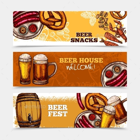 Beer Banner Set - Food Objects