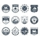 Mountain Adventure Emblems Black - GraphicRiver Item for Sale