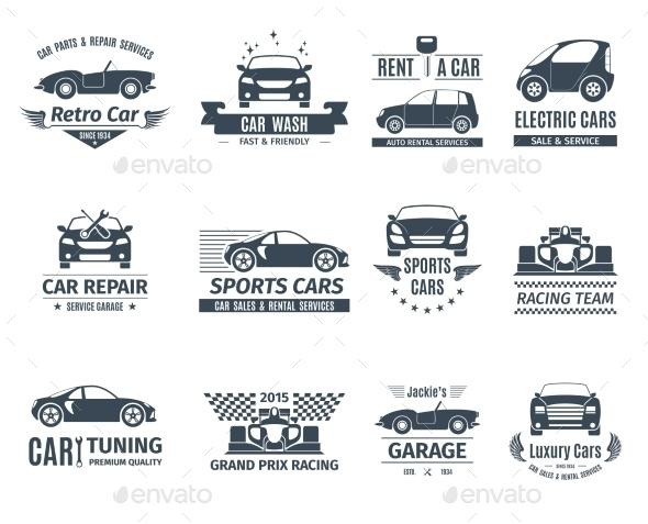 Car Logo Set Black - Miscellaneous Vectors