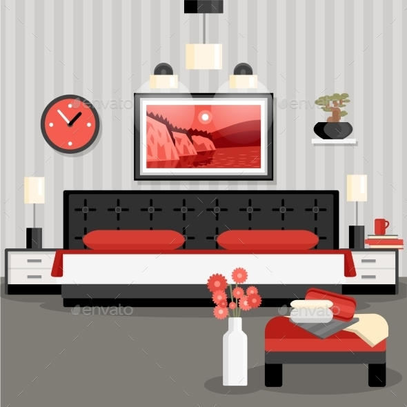 Bedroom Design Concept - Man-made Objects Objects