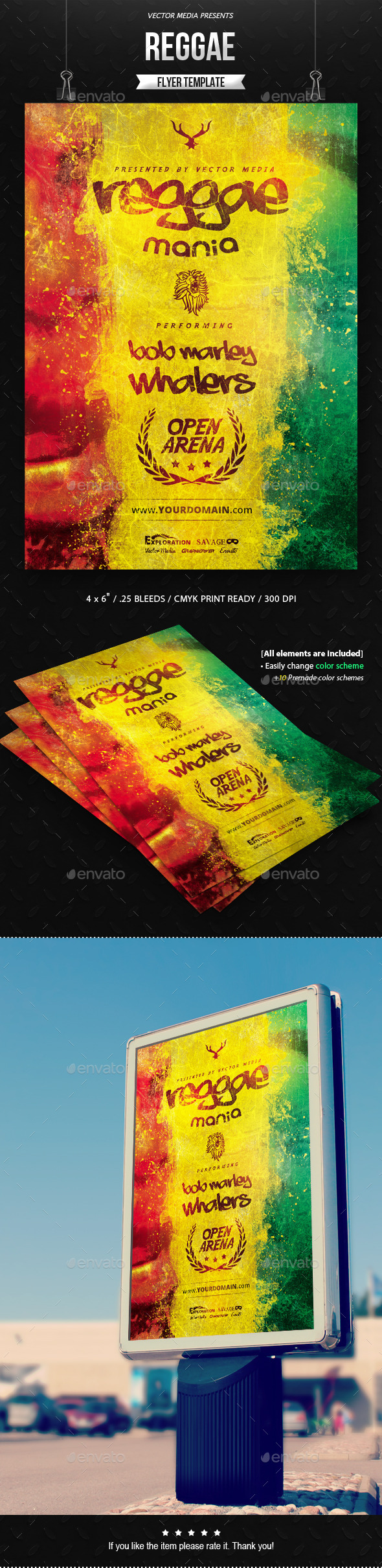 Reggae - Flyer - Clubs & Parties Events
