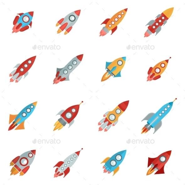 Rocket Icons Set - Technology Icons