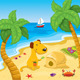 Cartoon Dog Playing on the Beach - GraphicRiver Item for Sale