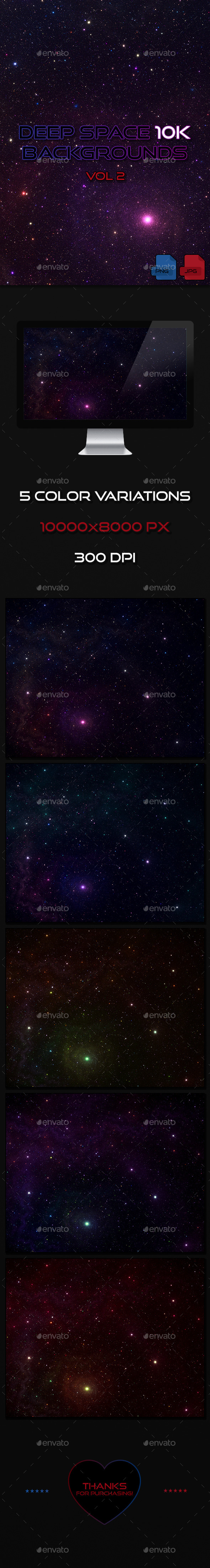 Deep Space 10K Backgrounds Vol2 - Abstract Backgrounds