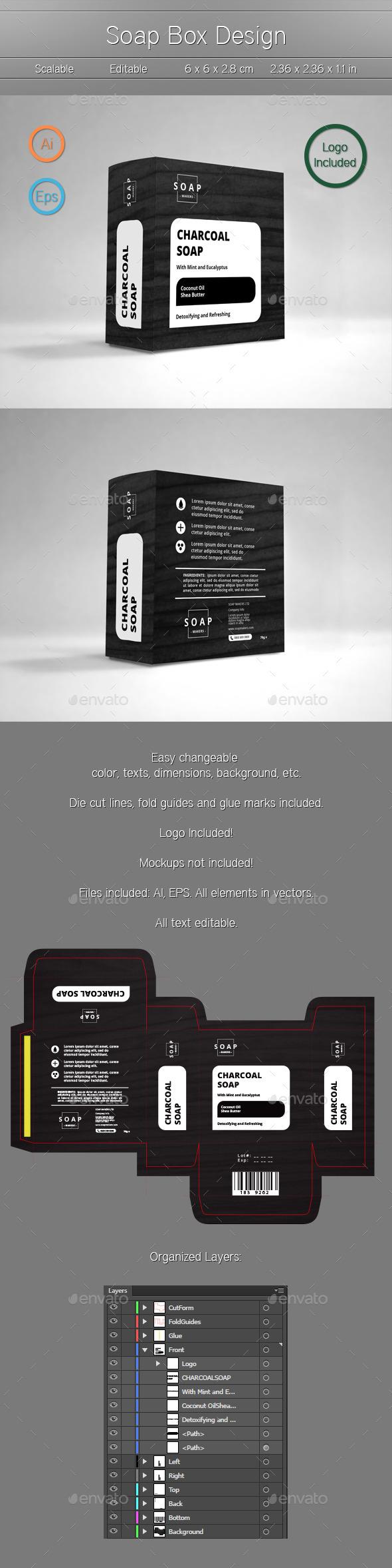 Soap Box - Packaging Print Templates