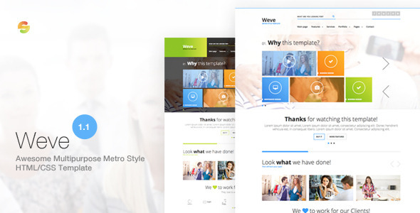 Weve - Responsive Metro Style HTML/CSS Template