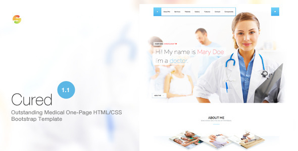 Cured - Medical One Page Bootstrap HTML/CSS Template - Health & Beauty Retail