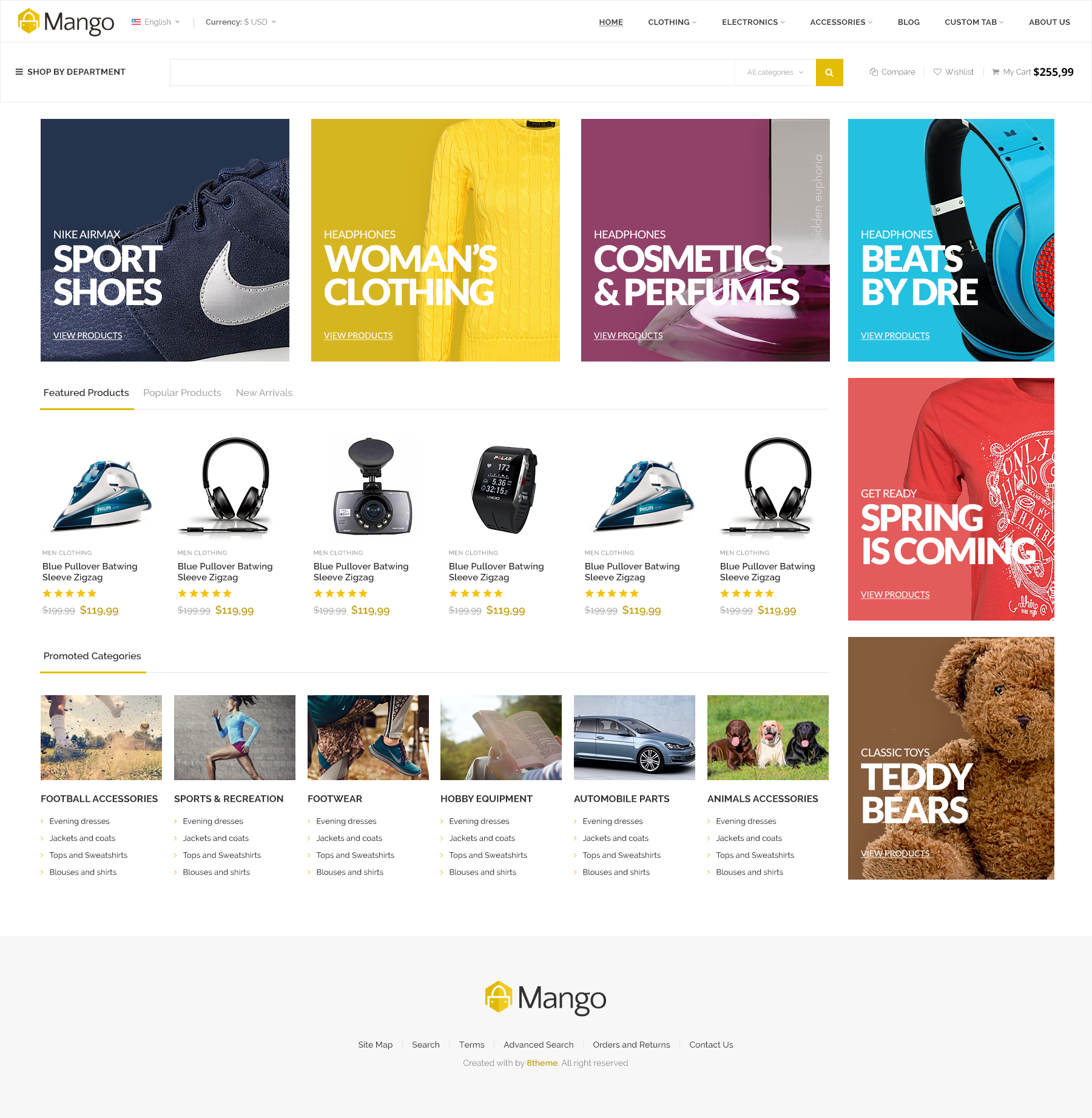 Mango Responsive Ecommerce Html5 Template By 8theme Themeforest