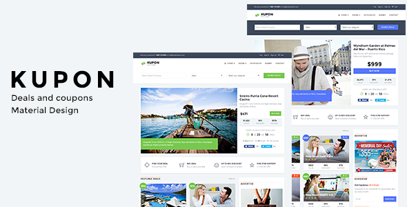 WordPress Coupon Theme, Daily Deals, Group Buying Marketplace - KUPON - Directory & Listings Corporate