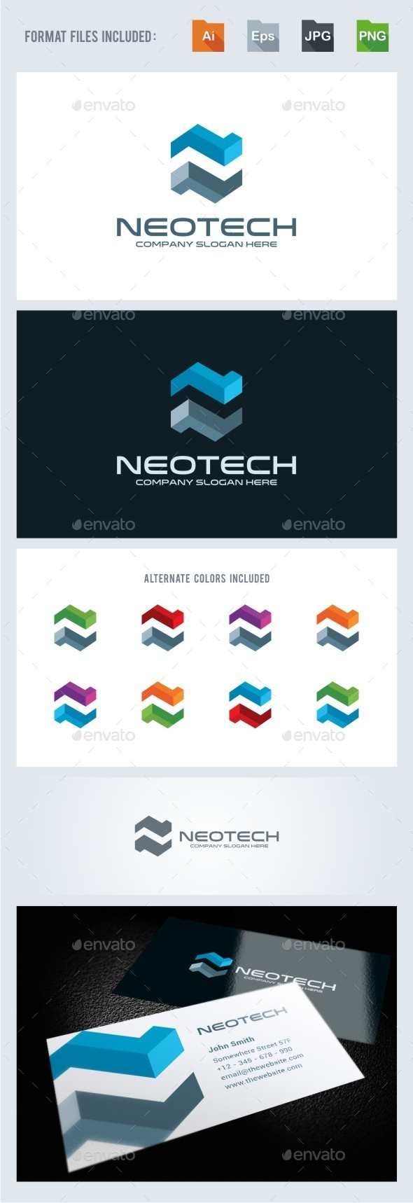 Neotech - N Letter Logo Template - Letters Logo Templates