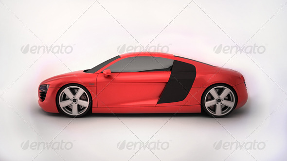 Audi R8 Tesla - 3DOcean Item for Sale