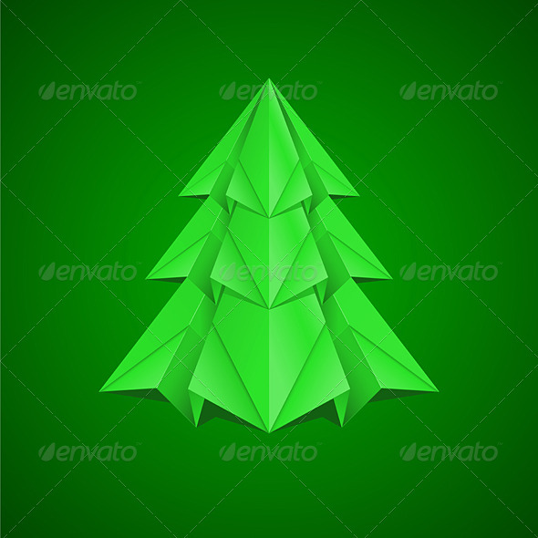 Paper Christmas Tree - Characters Vectors