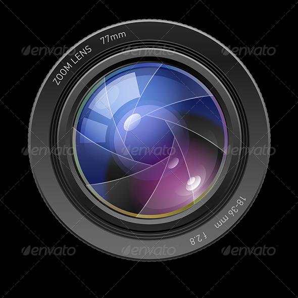 Photo lens - Characters Vectors