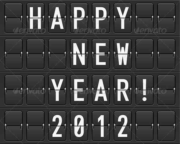 Scoreboard Happy New Year - Characters Vectors