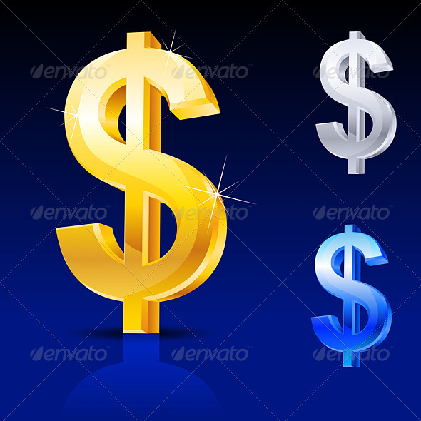 Abstract dollar sign - Characters Vectors
