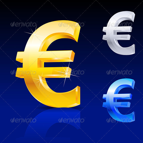 Abstract euro sign - Characters Vectors