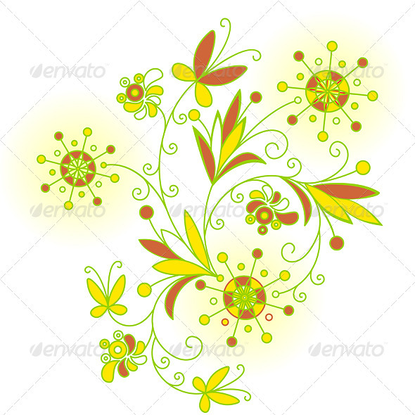 Abstract Flowers background for design - Characters Vectors