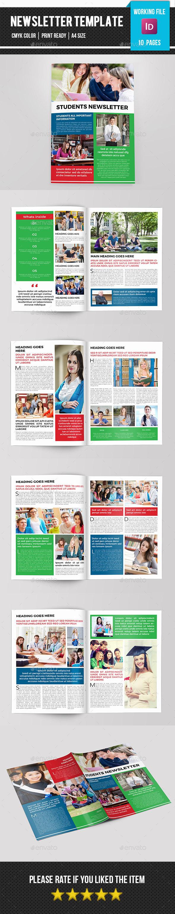 Student Newsletter-V09 - Newsletters Print Templates