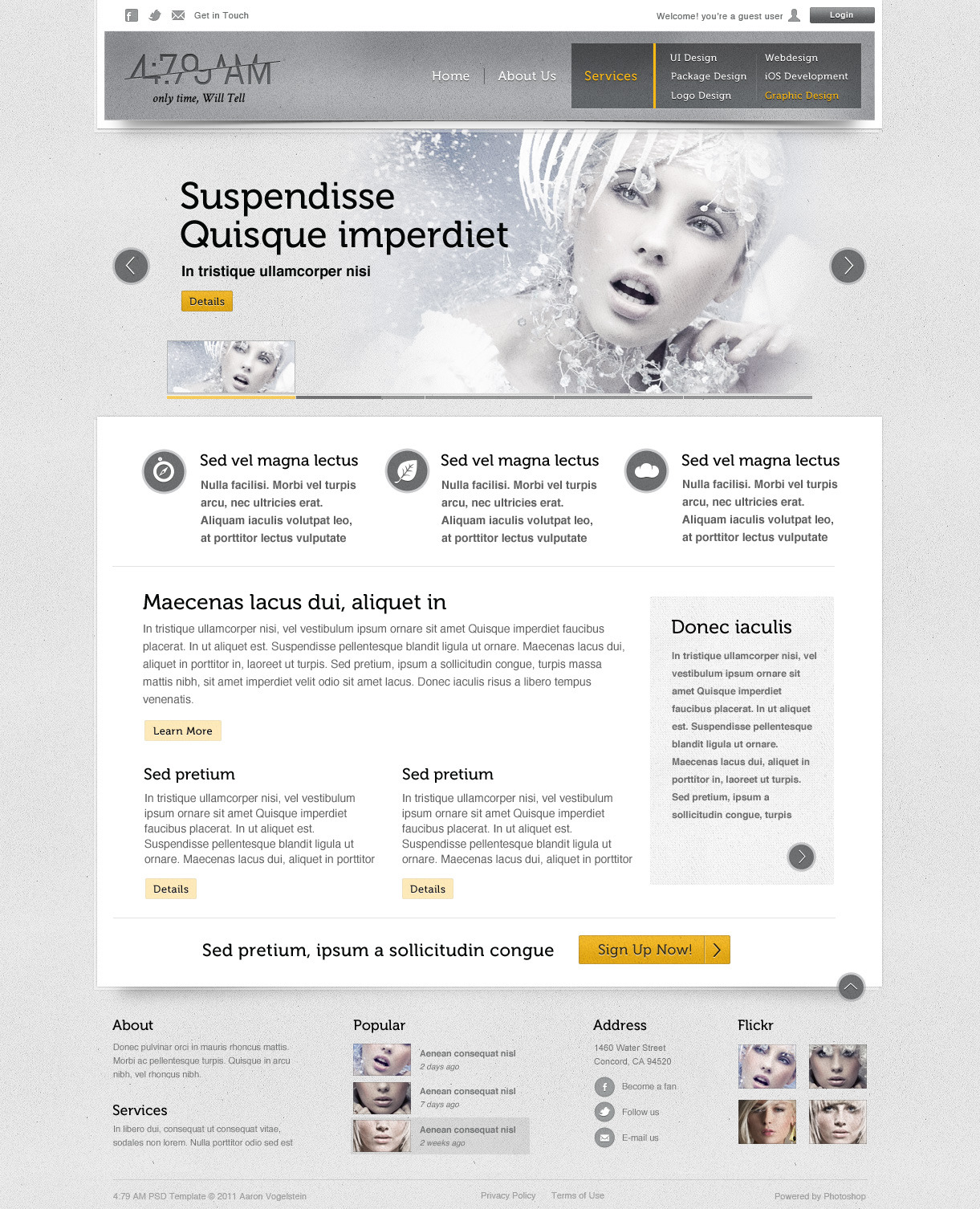 Free Download 4:79 AM PSD Template Nulled Latest Version