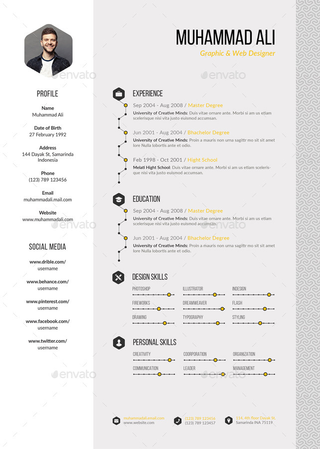pattern resume by kholistudio