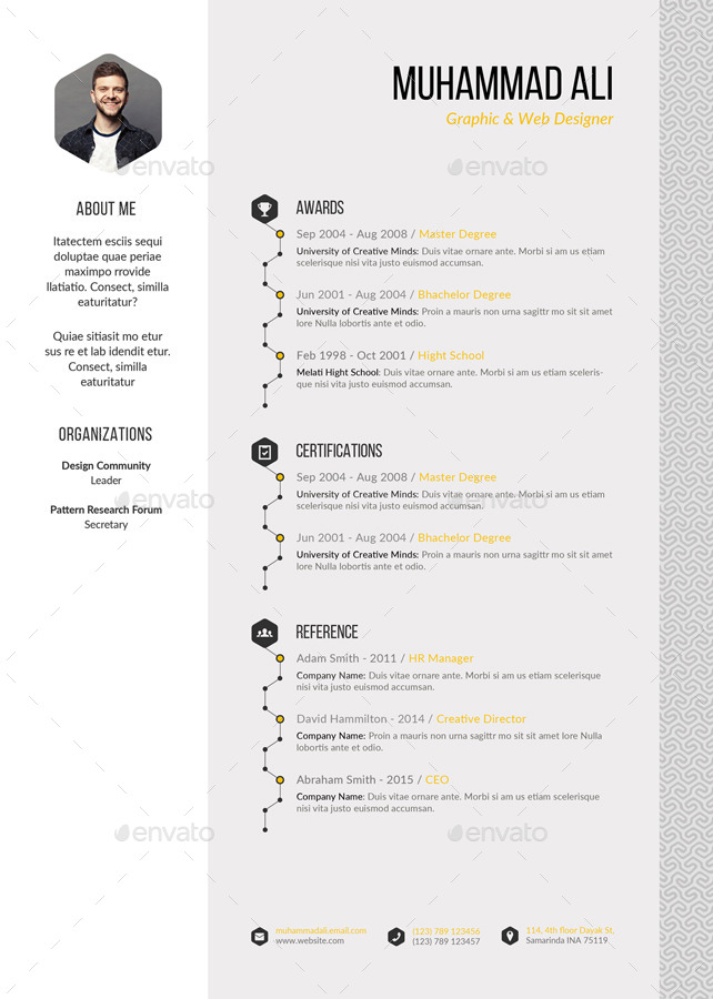 pattern resume by kholistudio graphicriver