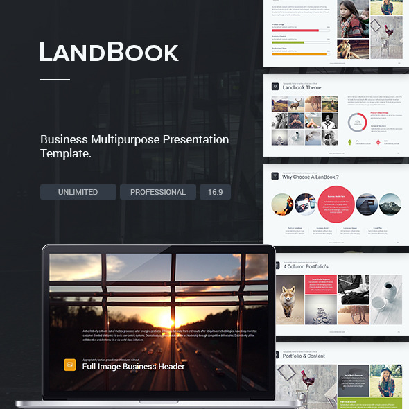 Business Theme - LandBook - Creative PowerPoint Templates