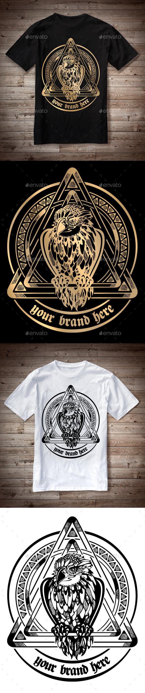 T-Shirt Illustration Eagle Theme - T-Shirts