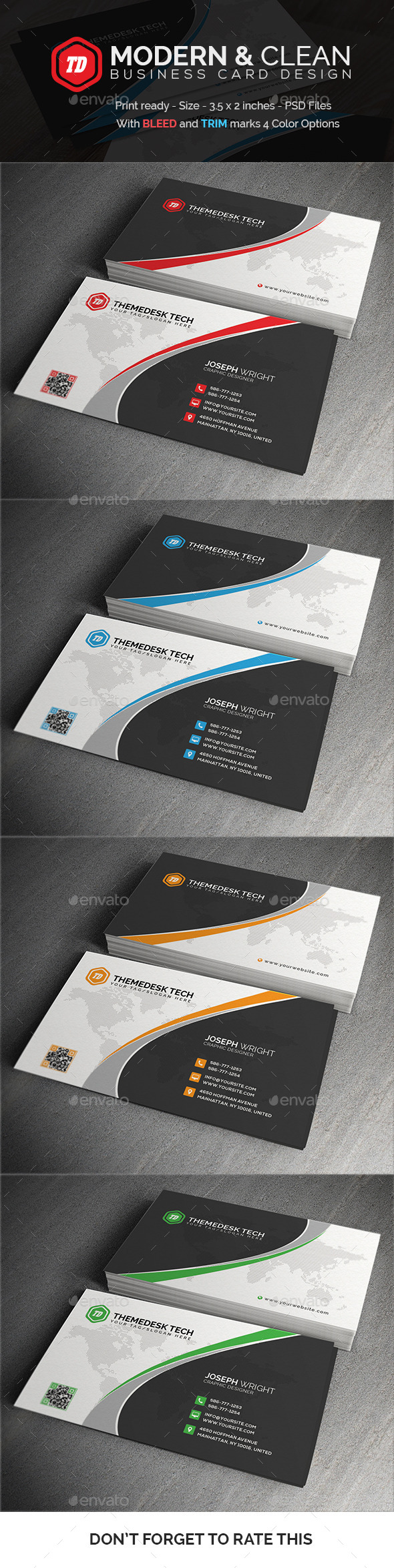 Modern and Clean - Business Card - Corporate Business Cards