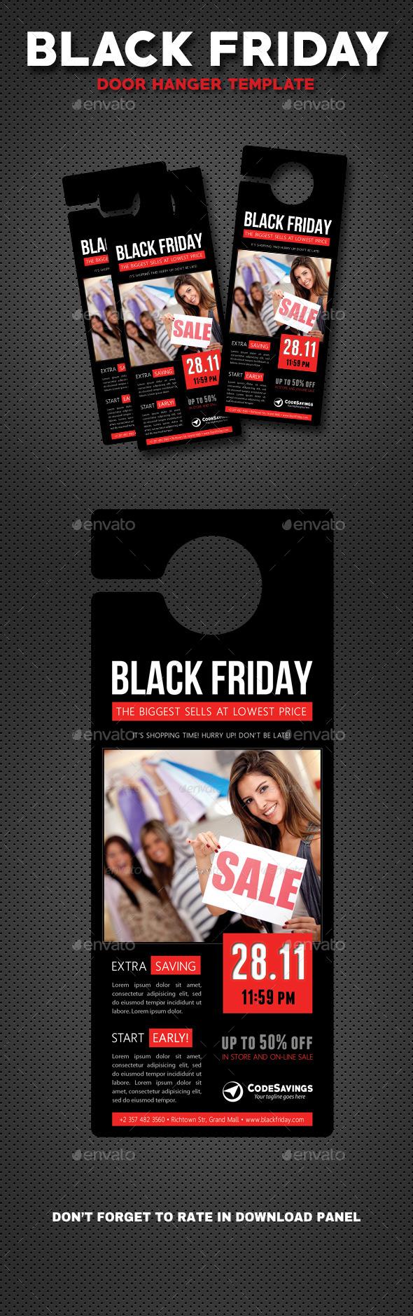 Black Friday Door Hanger V2 - Miscellaneous Print Templates