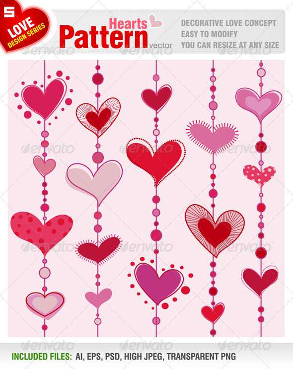 Hearts Pattern - Valentines Seasons/Holidays