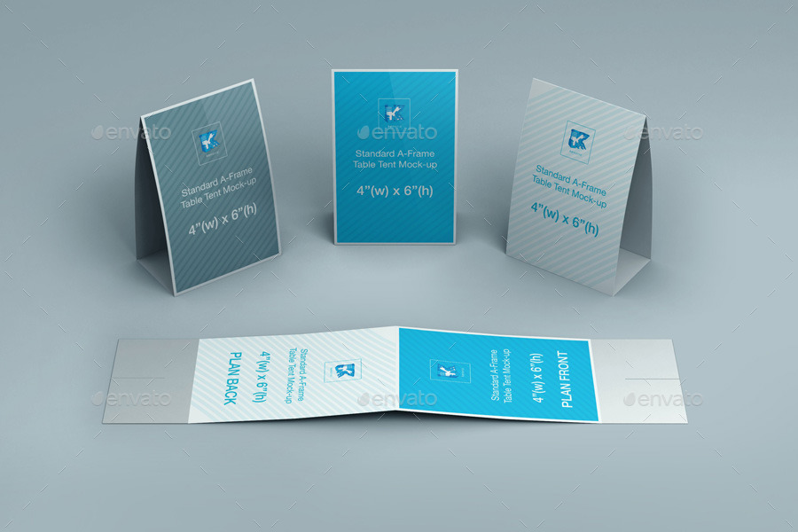 table tent mockup  Table Tent Mock-up v2 by kenoric | GraphicRiver