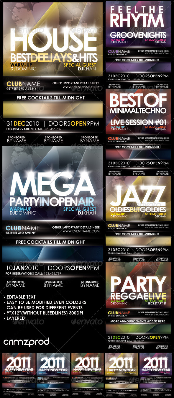 Club Party Poster (2011) - Clubs & Parties Events