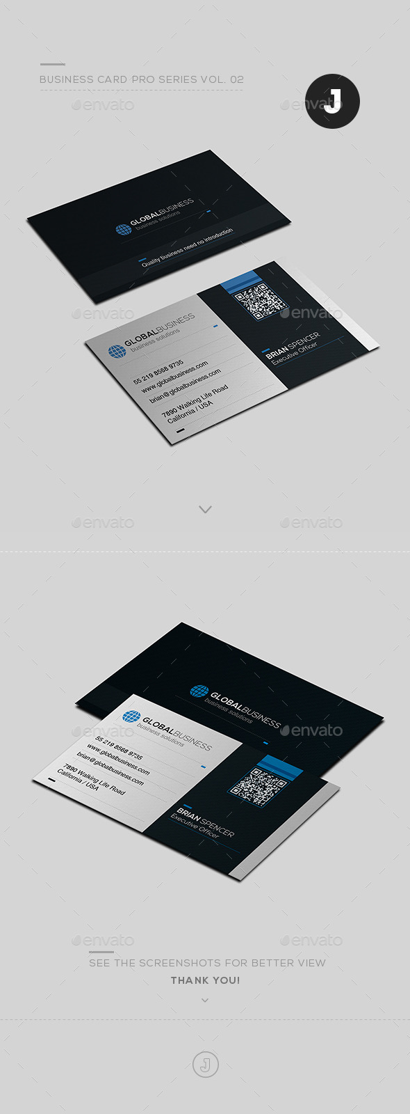 Business Card Pro Series Vol. 02 - Creative Business Cards